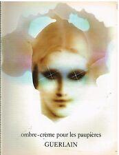 Publicité Advertising 1974 Cosmétique Ombre Crème pour paupières Guerlain