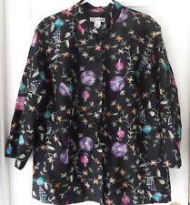 9224ff73815 Dress Barn Woman Mandarin Collar Fully Embroidered Jacket 100% Silk Plus 2X