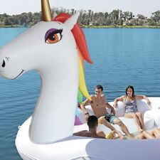 5M Huge Inflatable Unicorn Pool Float. Float Lounge, Island Water Toy