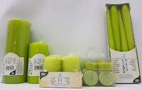 Lime Green Kiwi Tealights Tapered and Pillar Candles Quality Papstar Germany