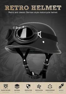 Crazy Al's WORLD'S SMALLEST LIGHTEST SOA Style DOT Flat Black Half Helmet NEW
