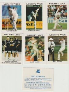 Vca mighty vics cricket card lot 10 Cards Cigarette and trade Cards
