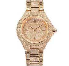 MICHAEL KORS MK5862 CAMILLE Rose Gold Pave Crystal Glitz Round Women Watch