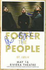 Foster The People autographed concert poster 2014 Pumped Up Kicks Mark Foster