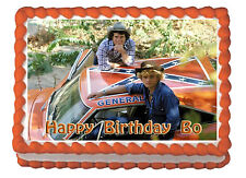 Dukes of Hazard General Lee Premium Edible Frosting Cake Topper