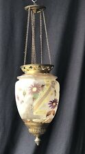 Chandelier/Lantern Napoleon Iiii Glass Enamelled and Painted Time 19th Century