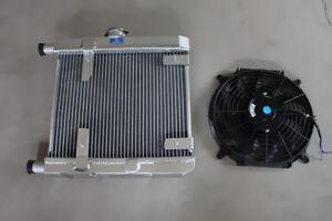 Radiator for Lancia Fulvia 1.3 1.3S V4 +12'' 12V fan & mounting kit