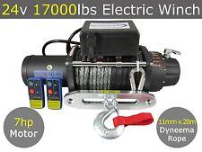 24v 17000lbs Electric Winch 11mm X 28m Dyneema Rope Truck 4WD 4x4 17000lb
