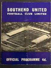 19/10/1963, Southend United v Reading, Div 3