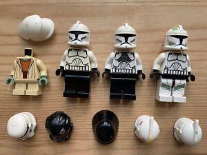 Lego Star Wars *Damaged* Minifigure Parts Lot: Clones Vader Yoda Rebel Storm+