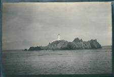Europe, Vue d'un phare, ca.1903, vintage silver print Vintage silver print
