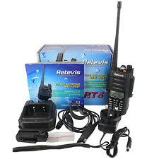 Retevis RT6 IP67 Waterproof 1800mA Portable Radio 128memory channels VHF UHF+USB