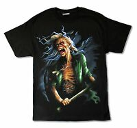 Iron Maiden Breeg Up Close N.A. Tour 2010 Mens Black T Shirt New Official Merch