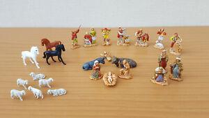 statuine presepe completi! Natività + personaggi (Tot. 25 soggetti) h= 3,5 cm