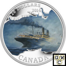 2014 Silver RMS Empress of Ireland Color Prf $20 Fine Silver 1oz Coin(13899)NT