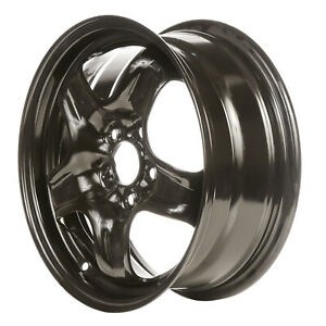08104 Refinished Chevrolet HHR 2007-2011 16 inch Black Steel Wheel, Rim