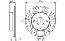 BOSCH Juego de 2 discos freno Antes 238mm ventilado NISSAN MICRA 0 986 479 354