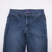 NYDJ Embellished Straight Leg Stretch Jeans Medium Wash Denim Womens 6