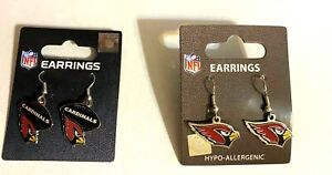 Arizona Cardinals NFL Earrings~ Choose  Your Style:/Dangle/Dangle Football