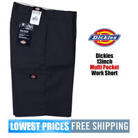 Dickies NWT Men's 13 Inch Loose Fit  Navy Walk Shorts W/ Cell Phone Pocket