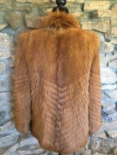 Auburn Dyed Goat Fur Coat Jacket Vintage