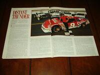 BILL ELLIOTT NASCAR RACE CARS  ***ORIGINAL 1988 ARTICLE***