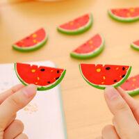 5X Mini Wassermelone Rubber Bleistift Radiergummi Kinder kreative Briefpapier^