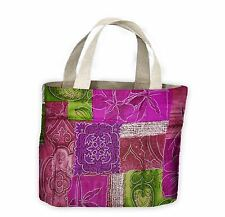 Patchwork Quilt Flowers Tote Shopping Bag For Life - Flower Floral