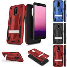 for Nokia C2 Tava, C5 Endi Tranzformer Armor Kickstand Protector Case Cover+Tool