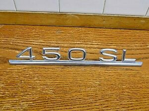 Feb 73-80 Mercedes-Benz 450SL Trunk Lid Emblem