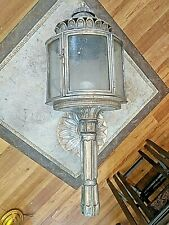 Gorgeous Large Silverplate Torchiere Candelabra Wall Sconce