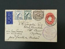 More details for australia 1934 1st official airmail to new guinea faith in australia cover(f488)