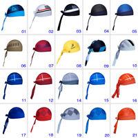One Size Bike Headband Bandana Pirate Cap Hat Sport Cycling Bicycle Headsweats