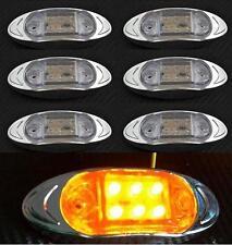 6 x LED ARANCIO LUCI di posizione laterali cromo Camion per man daf volvo