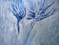 "Modern ""BLUE BIRDS"" Acrylic art painting on canvas 3'x4'"