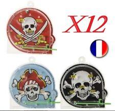 """12 Mini Flippers """"Pirate"""" - 5 cm - Lot De Petits Jouets Kermesse - Anniversaire"""
