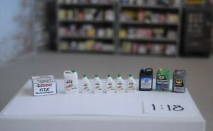 1/18 Scale Castrol GTX White oilproducts for your Diorama & shop items