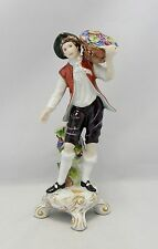 Royal Dux Czechoslovakia Porcelain Winemaker Man 22167 As Is