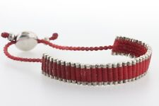 Links Of London Sterling Silver 925 Red Cord Friendship Bracelet