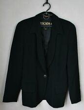 Authentic Luxury Rare Vintage ESCADA MARGARETHA LEY Black Wool Blazer Size 34