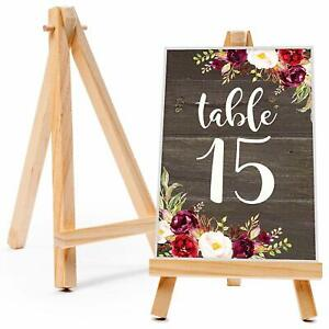 20x Mini Wooden Easel Table Wedding Decor Picture Name Card Holder Display Stand