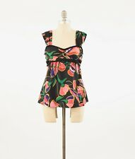 Marc Jacobs Blouse 6 Tropical Floral Print Sweetheart Neckline Silk Tank Top