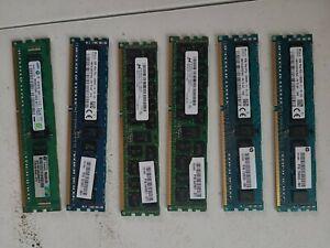 LOT OF 5 MIXED BRANDS 8GB + 1 4GB PC3L-12800R SERVER RAM Total of 44GB