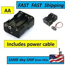 6 x AA Size -------- Battery Holder Box 9V - with power cable