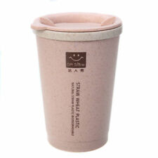 Kitchen Honey Wheat Straw Coffee Cup Tumbler with Lid Eco-friendly Unbreakable