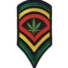 Reggae Patch - Marijuana, Cannabis, Ganja, Herb (Iron on)