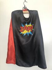 Kids Adults Comic book Superhero Zap Reversible Cape Halloween Costume One size