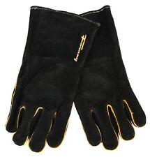 Forney 53425 Black Leather Men's Welding Gloves, Large