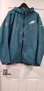 Nike Philadelphia Eagles Jacket Mens Size 4XL Storm Fit Rain Coat Nwot