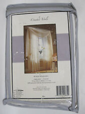 "Bed Bath Crinkle Crushed Voile Rod Pocket White Sheer Curtain Panel 55"" x 84""L"